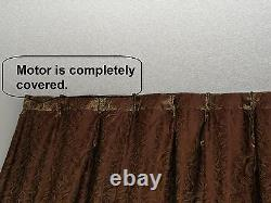 10' Remote controlled Electric Motorized window drapery curtain Traverse Track