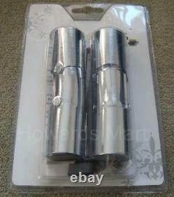 2 New Bay Window Corner Curtain Pole Elbow Joints 35mm Brass Chrome Nickel Joint