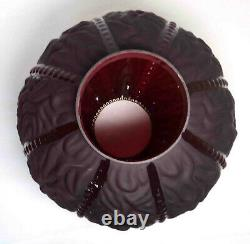 Antique Consolidated Glass Burgundy Parlor GWTW 10 Globe Beaded Drape Pattern