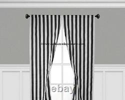 Black and White Curtain Panels Window Treatments Drapes Modern Curtains Decor