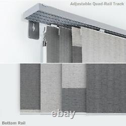 Deluxe Adjustable Sliding Panel Track Blind Cut to Length Window Panel Curtain