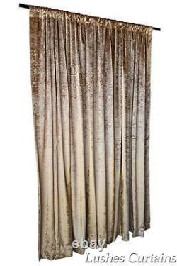 Gold Velvet Curtain 96 H Thermal Window Treatment Panel Drape withRod Pocket Top