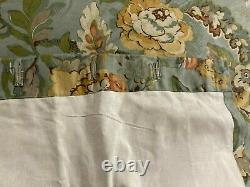Pottery Barn Vanessa Window Curtain Drapes Set of 4 Blue Floral Lined 50x 84