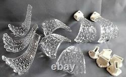 Rare Vintage Antique Curtain Drapery Tieback Clear Glass Art Deco set of 8 EAPG