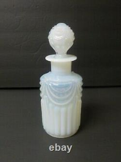 Sevres France Opalescent Glass DRAPERY Cologne / Perfume Bottle, c. 1900