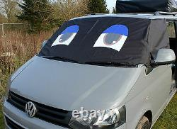 VW Screen Cover Transporter T5 Window Curtain Wrap Frost Protection Blinds Eyes