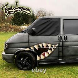 VW T4 Window Screen Cover Curtain Wrap Frost Black Out Blind Green Eyes