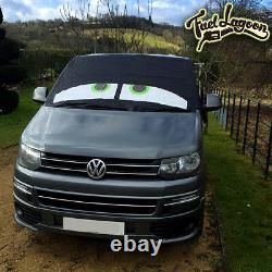 VW T5 Camper Black Out Blinds Window Screen Cover Curtain Frost Wrap Eyes Green