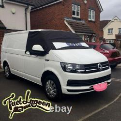 VW Transporter T6 Window Screen Curtain Cover Wrap Frost Blinds Eyes Blue Angry