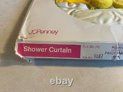 Vtg vinyl matching shower curtain withvalance & window curtain withval. Unopened
